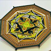 """Картины и панно ручной работы. Ярмарка Мастеров - ручная работа """"Древняя вязь"""" - индейская мандала с вышивкой. Handmade."""