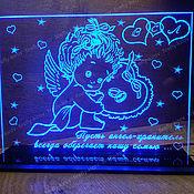 Свадебный салон ручной работы. Ярмарка Мастеров - ручная работа Ночник для своей семьи Ангел-хранитель. Handmade.