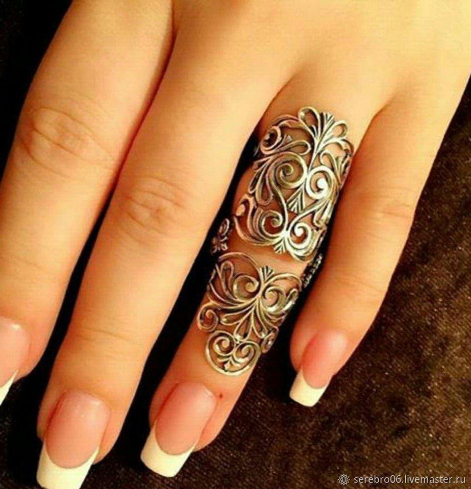 Серебряное кольцо на весь палец. Серебро 925 пробы – купить на Ярмарке Мастеров – IJ9CNRU | Кольцо на весь палец, Назрань