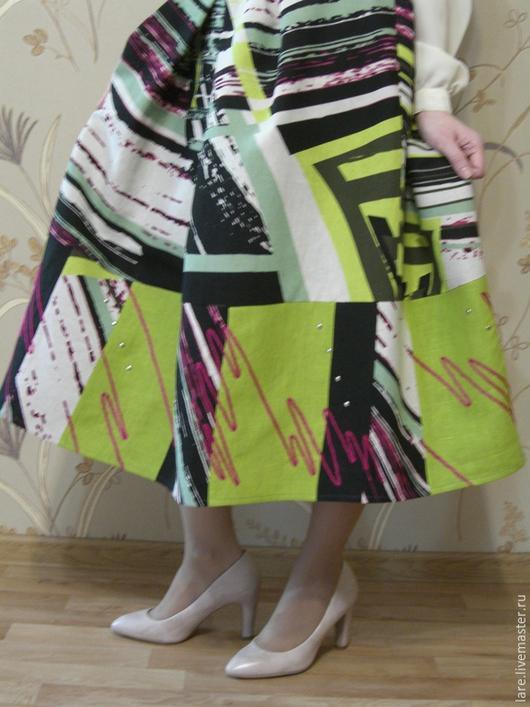 """Юбки ручной работы. Ярмарка Мастеров - ручная работа. Купить Юбка """"Джаз"""". Handmade. Разноцветный, летняя одежда, нарядная юбка"""