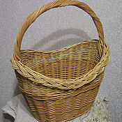 Для дома и интерьера handmade. Livemaster - original item Basket wicker oval with handle of willow vines. Handmade.