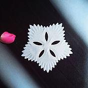 Ткани ручной работы. Ярмарка Мастеров - ручная работа Вырубка василек (Тонкий шелк) 63х57 мм. Handmade.