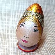 """Подарки к праздникам ручной работы. Ярмарка Мастеров - ручная работа Яйцо """"Красотка в кокошнике"""". Handmade."""
