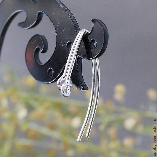 Швензы Серебро 925 проба крючки Швензы  из серебра 925 пробы для сборки сережек без замка с петелькой для крепления подвески