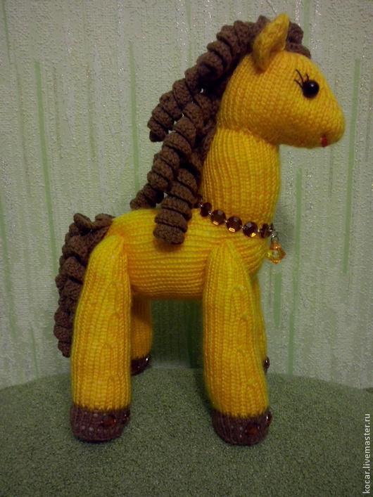 Игрушки животные, ручной работы. Ярмарка Мастеров - ручная работа. Купить Лошадь в янтаре. Handmade. Игрушка ручной работы