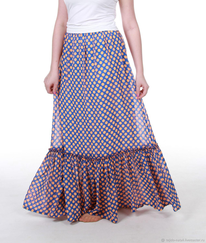Шифоновая юбка в пол – купить в интернет-магазине на Ярмарке Мастеров с доставкой