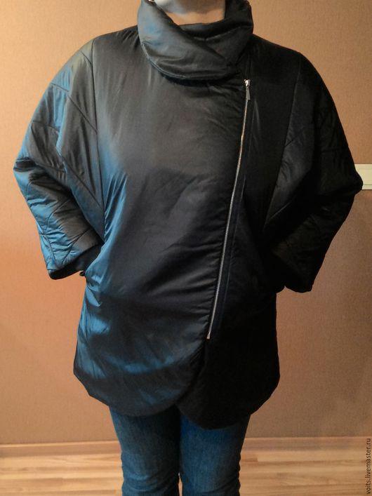 """Большие размеры ручной работы. Ярмарка Мастеров - ручная работа. Купить Куртка """"Vince+"""". Handmade. Черный, куртка на молнии, Плащёвка"""