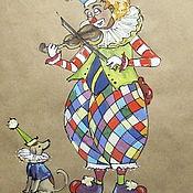 """Картины и панно ручной работы. Ярмарка Мастеров - ручная работа Графика """"Мелодия"""". Handmade."""