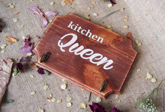 Кухня ручной работы. Ярмарка Мастеров - ручная работа. Купить Вешалка для кухни, Kitchen queen.. Handmade. Коричневый, вешалка для ключей