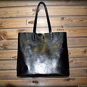Классическая сумка ручной работы. Ярмарка Мастеров - ручная работа Большой шоппер из кожи растительного дубления. Handmade.