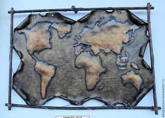 Экстерьер и дача ручной работы. Ярмарка Мастеров - ручная работа. Купить Карта мира. Handmade. Карта, мир, подарок в кабинет