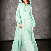 Одежда handmade. Livemaster - original item Romantic vacation dress Mint. Handmade.