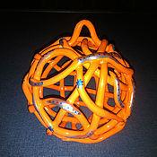 Сувениры и подарки handmade. Livemaster - original item Bell - Christmas ball in Orange with turquoise. Handmade.