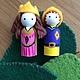 Вальдорфская игрушка ручной работы. Ярмарка Мастеров - ручная работа. Купить Куколки король и королева (маленькие). Handmade. Разноцветный