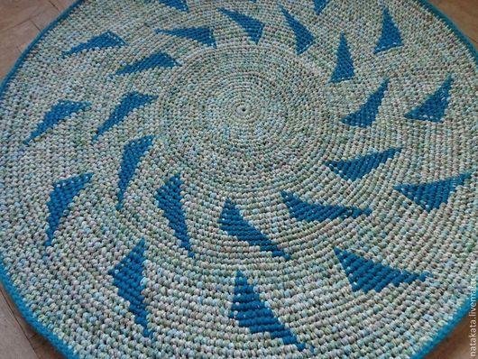 """Текстиль, ковры ручной работы. Ярмарка Мастеров - ручная работа. Купить Коврик """"Весенняя полянка"""". Handmade. Салатовый, весенний, веселый"""
