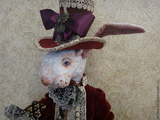 Коллекционные куклы ручной работы. Ярмарка Мастеров - ручная работа. Купить Белый  Кролик. Handmade. Текстильная игрушка, опилки для тедди