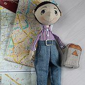 """Портретная кукла ручной работы. Ярмарка Мастеров - ручная работа Кукла """"Мальчик с рюкзаком"""". Handmade."""