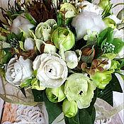 Цветы и флористика ручной работы. Ярмарка Мастеров - ручная работа Вкусный букет с хлопком. Handmade.