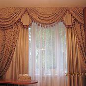 Для дома и интерьера ручной работы. Ярмарка Мастеров - ручная работа Портьеры (шторы) в гостиную. Handmade.