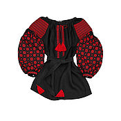 "Одежда handmade. Livemaster - original item Туника с вышивкой ""Ночной Барвинок"". Handmade."