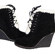 Обувь ручной работы handmade. Livemaster - original item Winter ankle boots wedge. Handmade.