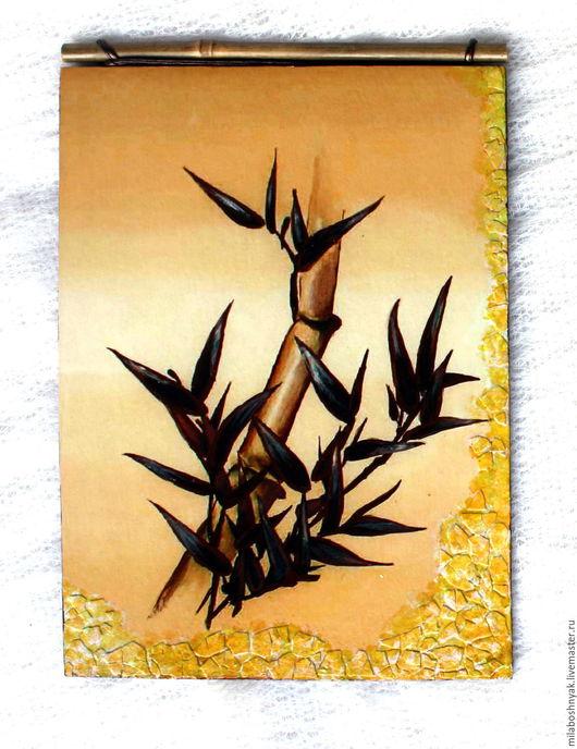 """Пейзаж ручной работы. Ярмарка Мастеров - ручная работа. Купить Панно """"Бамбук. Символ счастья"""". Handmade. Панно, картина, бамбук"""