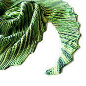 """Аксессуары ручной работы. Ярмарка Мастеров - ручная работа Платок на шею """"Яблоневый цвет """" шарф палантин бактус шаль. Handmade."""