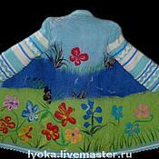 """Одежда ручной работы. Ярмарка Мастеров - ручная работа Пальто валяное """"Цветочный луг"""". Handmade."""