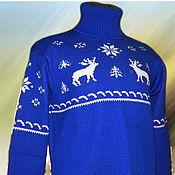 """Одежда ручной работы. Ярмарка Мастеров - ручная работа Тату-свитер - С оленями """"Классик"""". Handmade."""