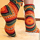 Зигзаг, носки вязанные женские шерстяные, МагазинЧик Пупенчик-Чик-Чик Ярмарка Мастеров