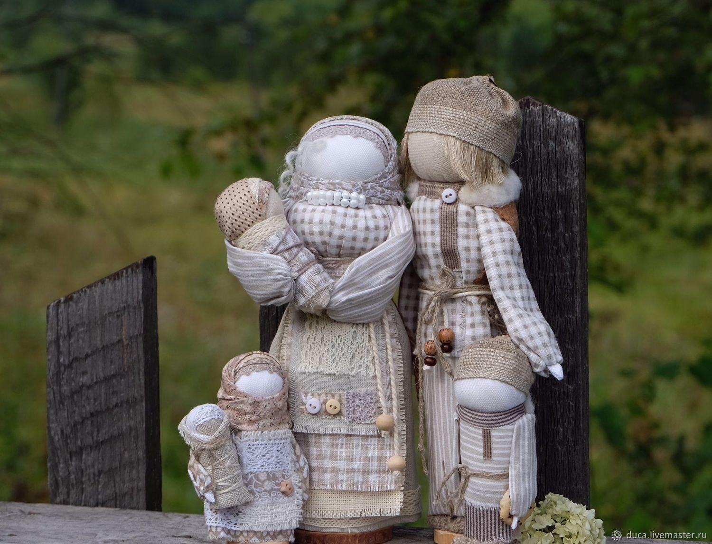 """Народные куклы обереги  семья """"Туманное утро"""", Dolls, Novokuznetsk,  Фото №1"""
