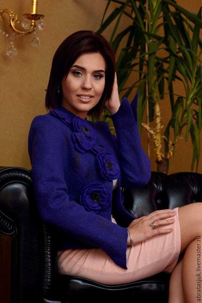 The author's jacket 'Magic violets', Suit Jackets, Kiev,  Фото №1