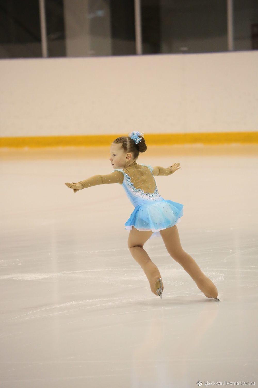 de1997e5c299 Blue Children's Dance Costumes handmade. Dress for figure skating. Clothes  for sports. Online shopping