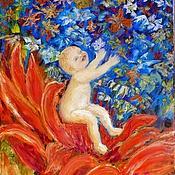 Картины и панно ручной работы. Ярмарка Мастеров - ручная работа Любовь рождает новый мир. Холст.Масло.. Handmade.