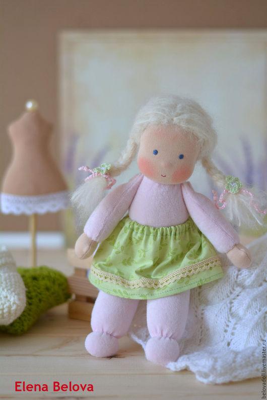 Вальдорфская игрушка ручной работы. Ярмарка Мастеров - ручная работа. Купить Вальдорфская кукла Зефирка, 26 см. Handmade.