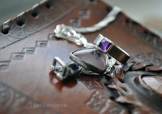 Кольца ручной работы. Ярмарка Мастеров - ручная работа. Купить Princesa - серебряное кольцо с аметистом (серебро 925). Handmade. серебряный