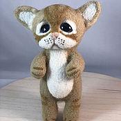 Куклы и игрушки handmade. Livemaster - original item Kitten, felt toy.. Handmade.