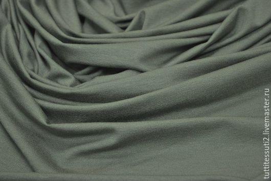 Шитье ручной работы. Ярмарка Мастеров - ручная работа. Купить Трикотаж 03-001-0466. Handmade. Тёмно-зелёный, эластан