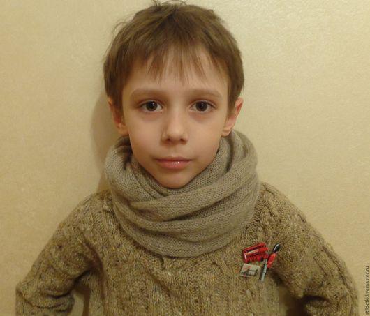Шапки и шарфы ручной работы. Ярмарка Мастеров - ручная работа. Купить Шарфик-снуд для ребенка Тепленький. Handmade. Шарф