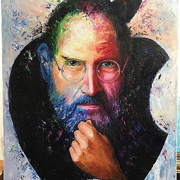Картины и панно ручной работы. Ярмарка Мастеров - ручная работа Картины: Стив Джобс. Handmade.