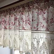 Для дома и интерьера handmade. Livemaster - original item Pelmet linen with cotton lace