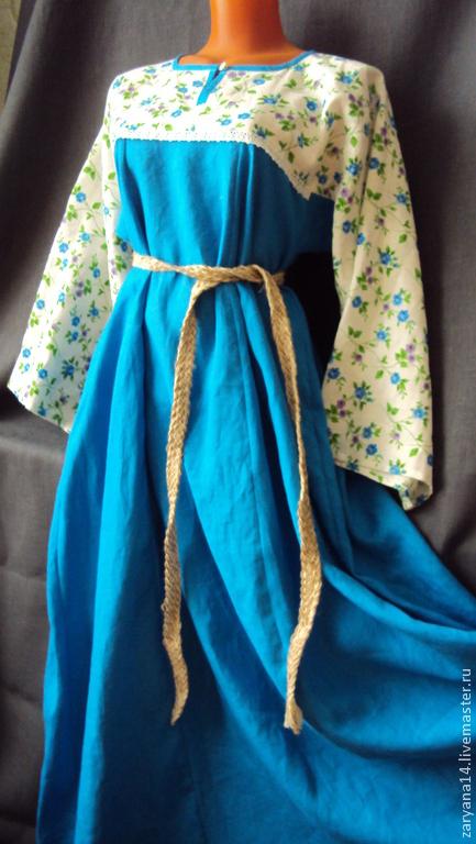 """Платья ручной работы. Ярмарка Мастеров - ручная работа. Купить Платье """"Насыщенная бирюза"""". Handmade. Цветочный, красивое платье"""