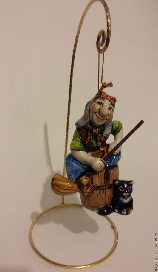 Статуэтки ручной работы. Ярмарка Мастеров - ручная работа. Купить Баба Яга-защитница   очага. Handmade. Баба яга, Ступа