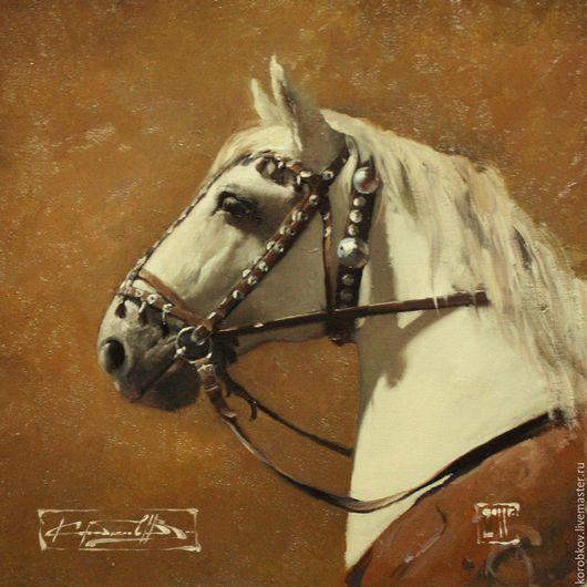 Животные ручной работы. Ярмарка Мастеров - ручная работа. Купить Конь.. Handmade. Комбинированный, конь, известный художник, масло