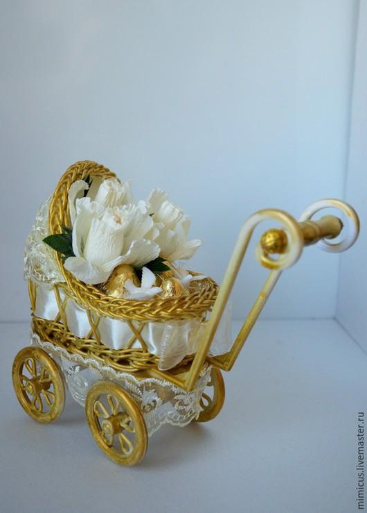 """Подарки для новорожденных, ручной работы. Ярмарка Мастеров - ручная работа. Купить Люлька маленькая """"Старинная"""". Handmade. Золотой, подарок женщине"""