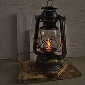 Для дома и интерьера handmade. Livemaster - original item Oil lamp electric table light in a loft style. Handmade.