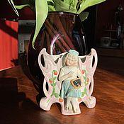 Винтаж handmade. Livemaster - original item Vase decorative, biscuit porcelain, hand made, England. Handmade.