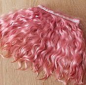 Материалы для творчества handmade. Livemaster - original item Mohair tress (pink) (accessories for dolls). Handmade.