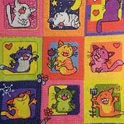 Картины и панно ручной работы. Ярмарка Мастеров - ручная работа вышивка на заказ смешные коты. Handmade.