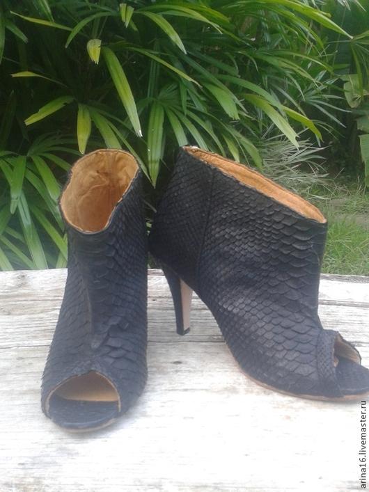 Обувь ручной работы. Ярмарка Мастеров - ручная работа. Купить сапожки летние. Handmade. Черный, сапоги ручной работы